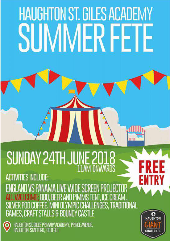 SUMMER FAYRE AND HAUGHTON GIANT CHALLENGE SUNDAY 24TH JUNE